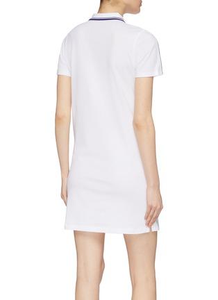 Back View - Click To Enlarge - FILA X 3.1 PHILLIP LIM - Logo print stripe sleeve half-zip polo dress