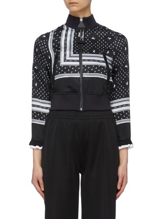 Main View - Click To Enlarge - FILA X 3.1 PHILLIP LIM - Logo print cropped bomber jacket