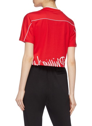 Back View - Click To Enlarge - FILA X 3.1 PHILLIP LIM - Logo print cropped T-shirt