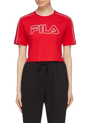 Main View - Click To Enlarge - FILA X 3.1 PHILLIP LIM - Logo print cropped T-shirt