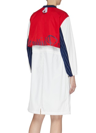 Back View - Click To Enlarge - FILA X 3.1 PHILLIP LIM - Mix logo drawstring colourblock jacket