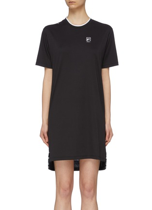 Main View - Click To Enlarge - FILA X 3.1 PHILLIP LIM - Contrast logo print back high-low T-shirt dress