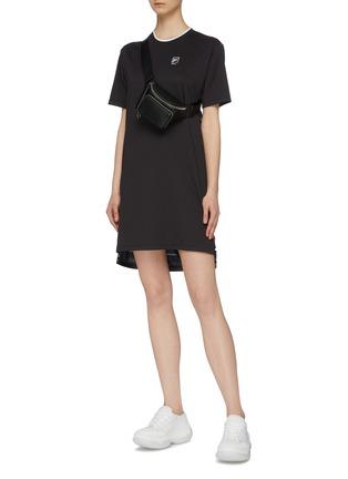 Figure View - Click To Enlarge - FILA X 3.1 PHILLIP LIM - Contrast logo print back high-low T-shirt dress