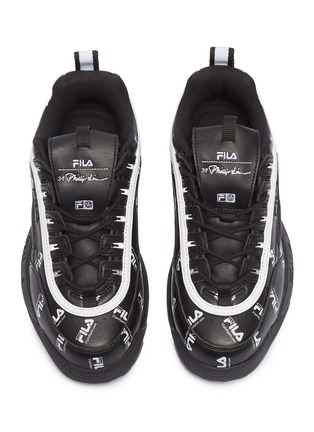 Detail View - Click To Enlarge - FILA X 3.1 PHILLIP LIM - 'Disruptor II' logo print leather chunky sneakers