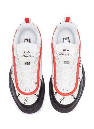 Detail View - Click To Enlarge - FILA X 3.1 PHILLIP LIM - 'Disruptor II' logo print colourblock leather chunky sneakers