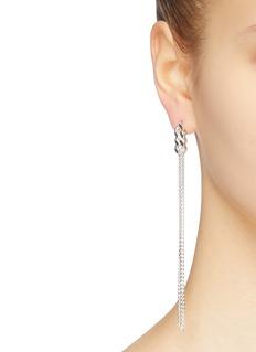 Saskia Diez 'Silver Grand' chain fringe sterling silver earrings