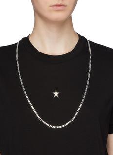 Saskia Diez 'Identity' silver lasso necklace