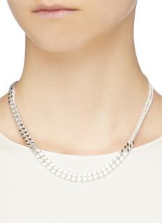 Saskia Diez 'Grand' chain sterling silver necklace