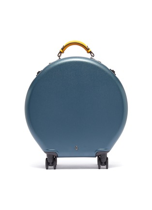 Main View - Click To Enlarge - OOKONN - Interchangeable handle round carry-on spinner suitcase –Dark Green/Yellow