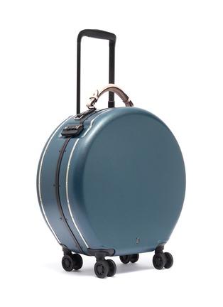 - OOKONN - Interchangeable handle round carry-on spinner suitcase – Dark Green/Light Pink