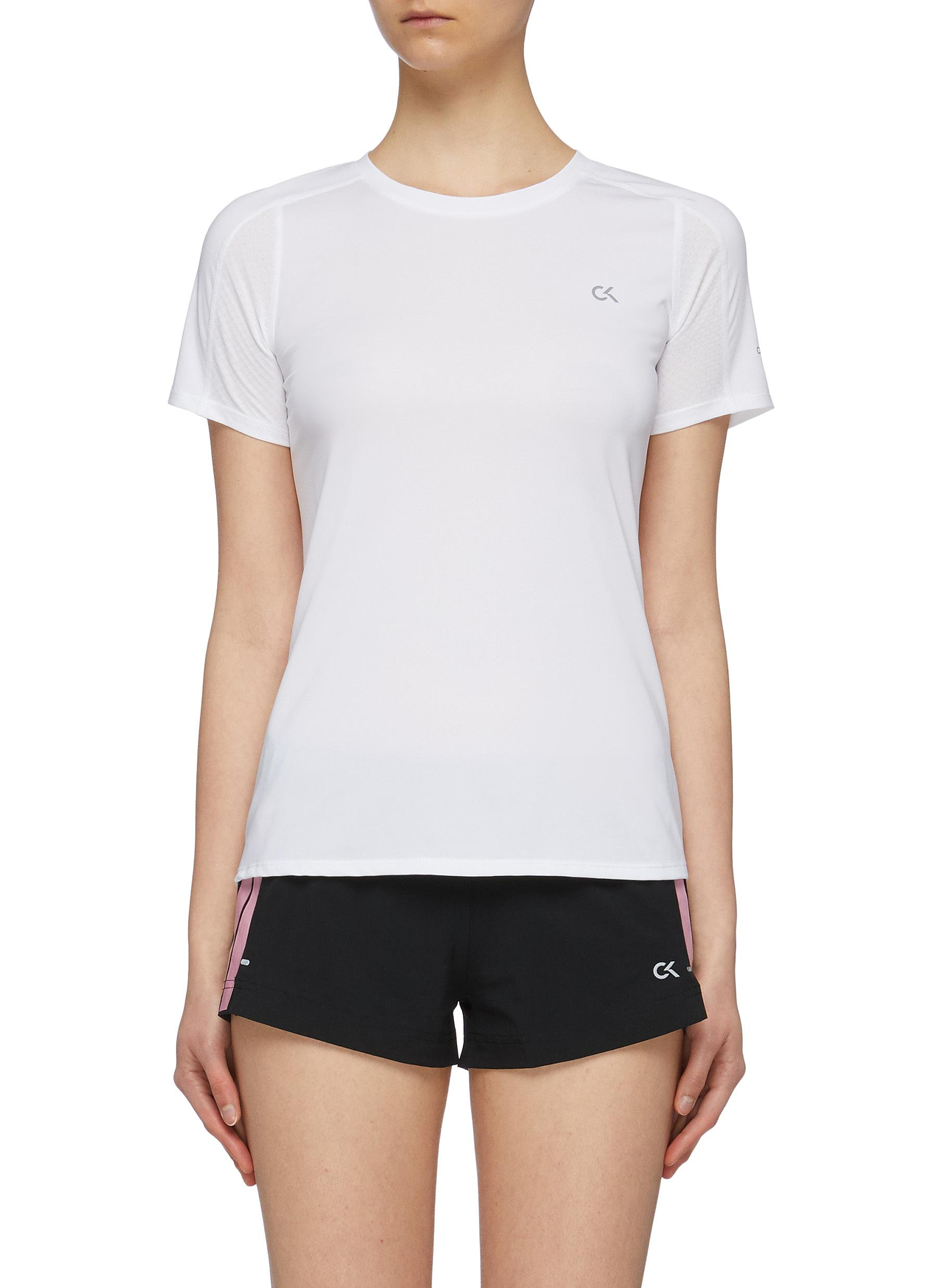 Mesh back performance T-shirt by Calvin Klein Performance