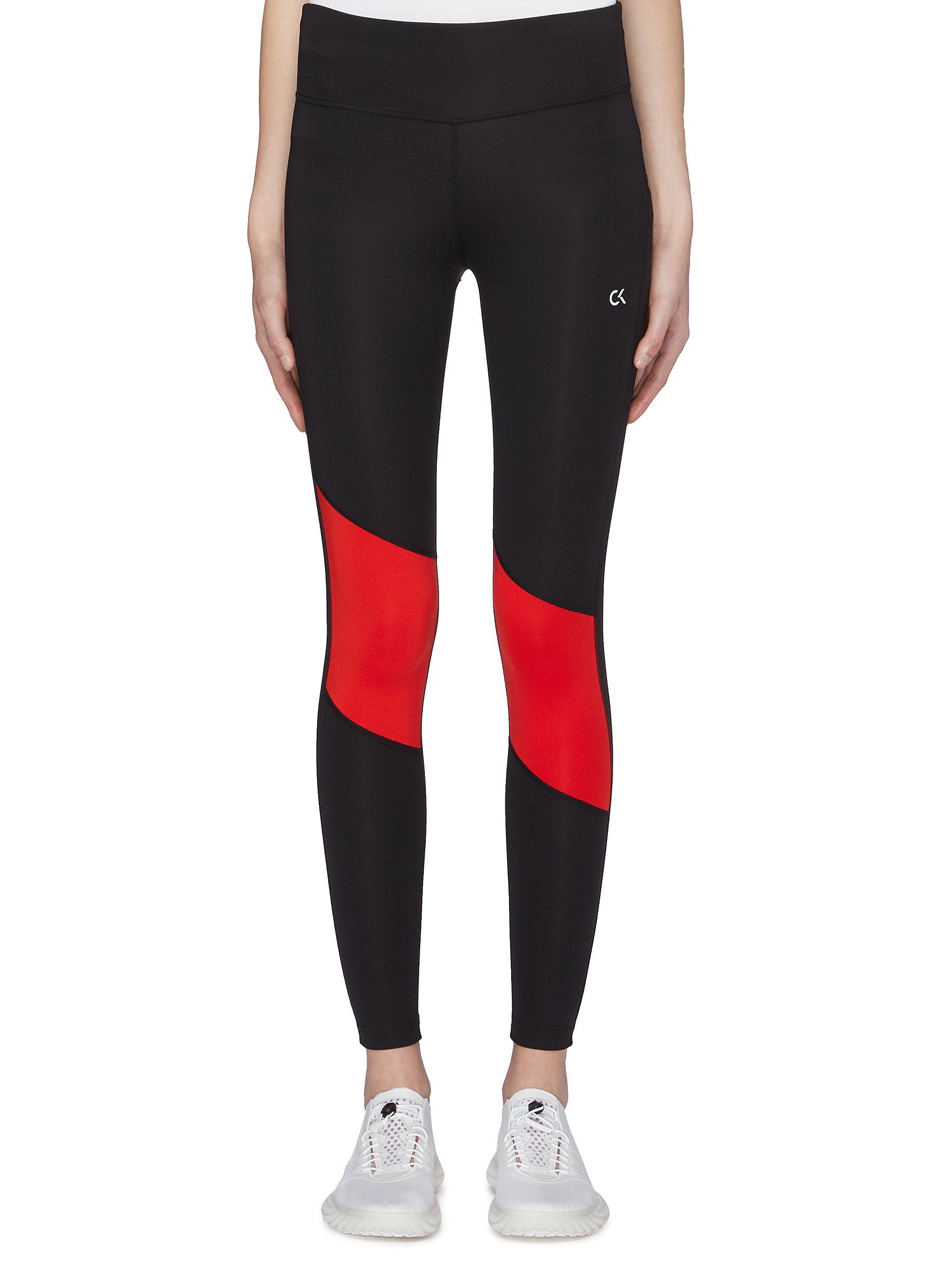 c80b6058d4 Calvin Klein Performance. Colourblock panel performance leggings