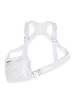 Main View - Click To Enlarge - HELIOT EMIL - Logo print harness chest bag