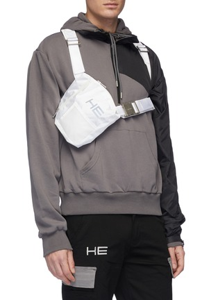 Figure View - Click To Enlarge - HELIOT EMIL - Logo print harness chest bag