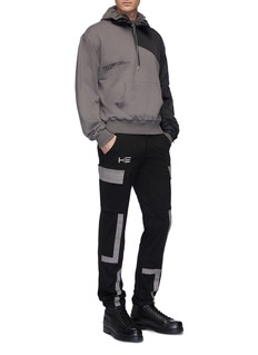 HELIOT EMIL Zip waist contrast trim worker pants