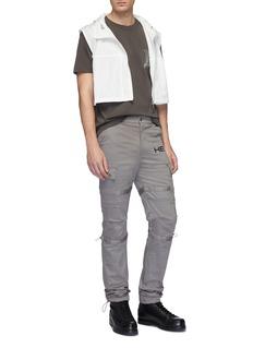 HELIOT EMIL Reflective trim cropped vest