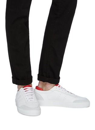 Figure View - Click To Enlarge - AXEL ARIGATO - 'Dunk' contrast collar leather sneakers