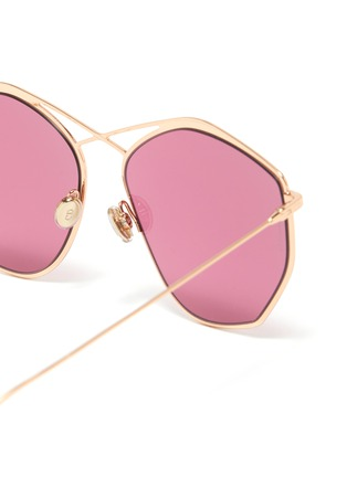 Detail View - Click To Enlarge - DIOR - 'Dior Stellaire 4' oversized geometric frame metal sunglasses