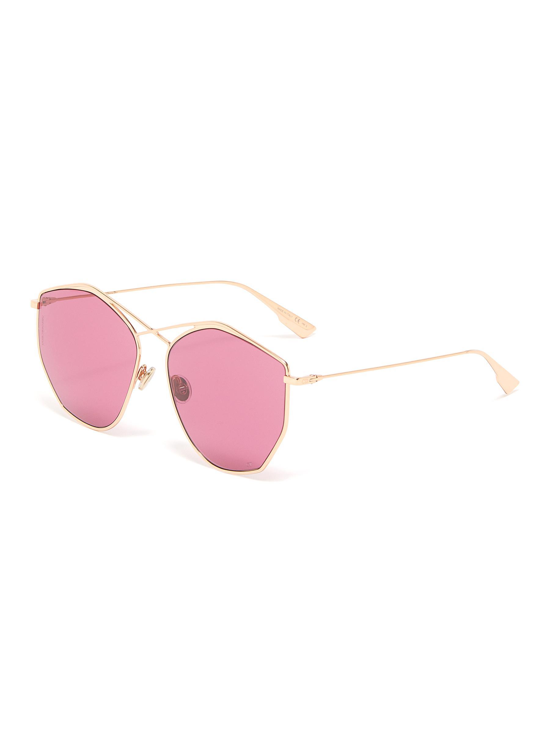 ceee48d5bb77 DIOR | 'Dior Stellaire 4' oversized geometric frame metal sunglasses ...
