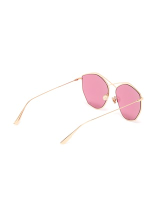 Figure View - Click To Enlarge - DIOR - 'Dior Stellaire 4' oversized geometric frame metal sunglasses
