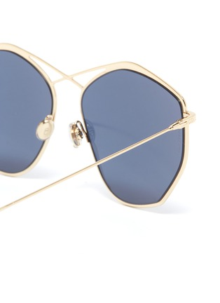 Detail View - Click To Enlarge - DIOR - 'Dior Stellaire 4' metal oversized geometric frame sunglasses