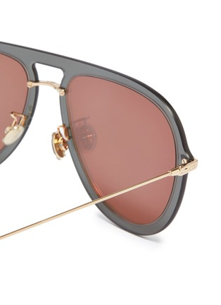 Detail View - Click To Enlarge - DIOR - 'Dior Ultime' rimless mirror colourblock aviator sunglasses