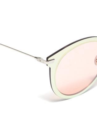 Detail View - Click To Enlarge - DIOR - 'Dior Ultimef' rimless mirror colourblock round sunglasses