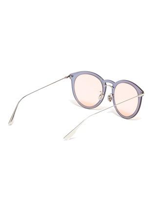 Figure View - Click To Enlarge - DIOR - 'Dior Ultimef' rimless mirror colourblock round sunglasses