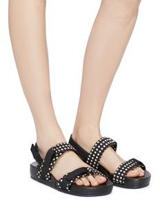 Figs By Figueroa 'Figswing' polka dot print slingback sandals