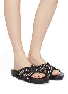 Figs By Figueroa 'Figomatic' polka dot cross strap slide sandals