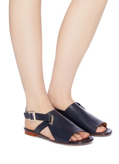 Clergerie 'Ada' ankle strap cutout leather sandals