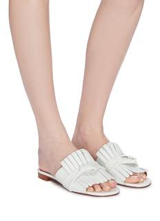 Clergerie 'Angela' knot fringe leather sandals
