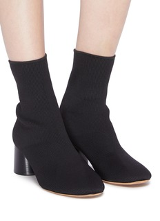 Vince 'Tasha' cylindrical heel sock knit ankle boots