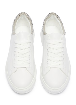 Detail View - Click To Enlarge - PEDDER RED - 'Louie' strass collar leather platform sneakers