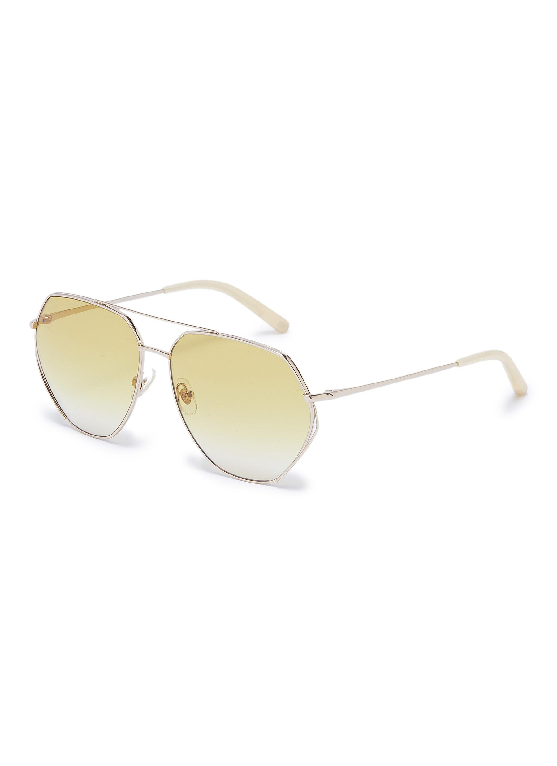 a104475fd6d Main View - Click To Enlarge - Matthew Williamson - Metal geometric aviator  sunglasses
