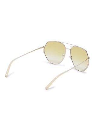 377b80859 Figure View - Click To Enlarge - MATTHEW WILLIAMSON - Metal geometric  aviator sunglasses