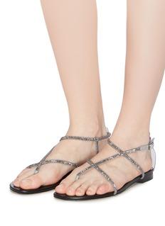 Pedder Red 'Calla' strass glitter strappy sandals