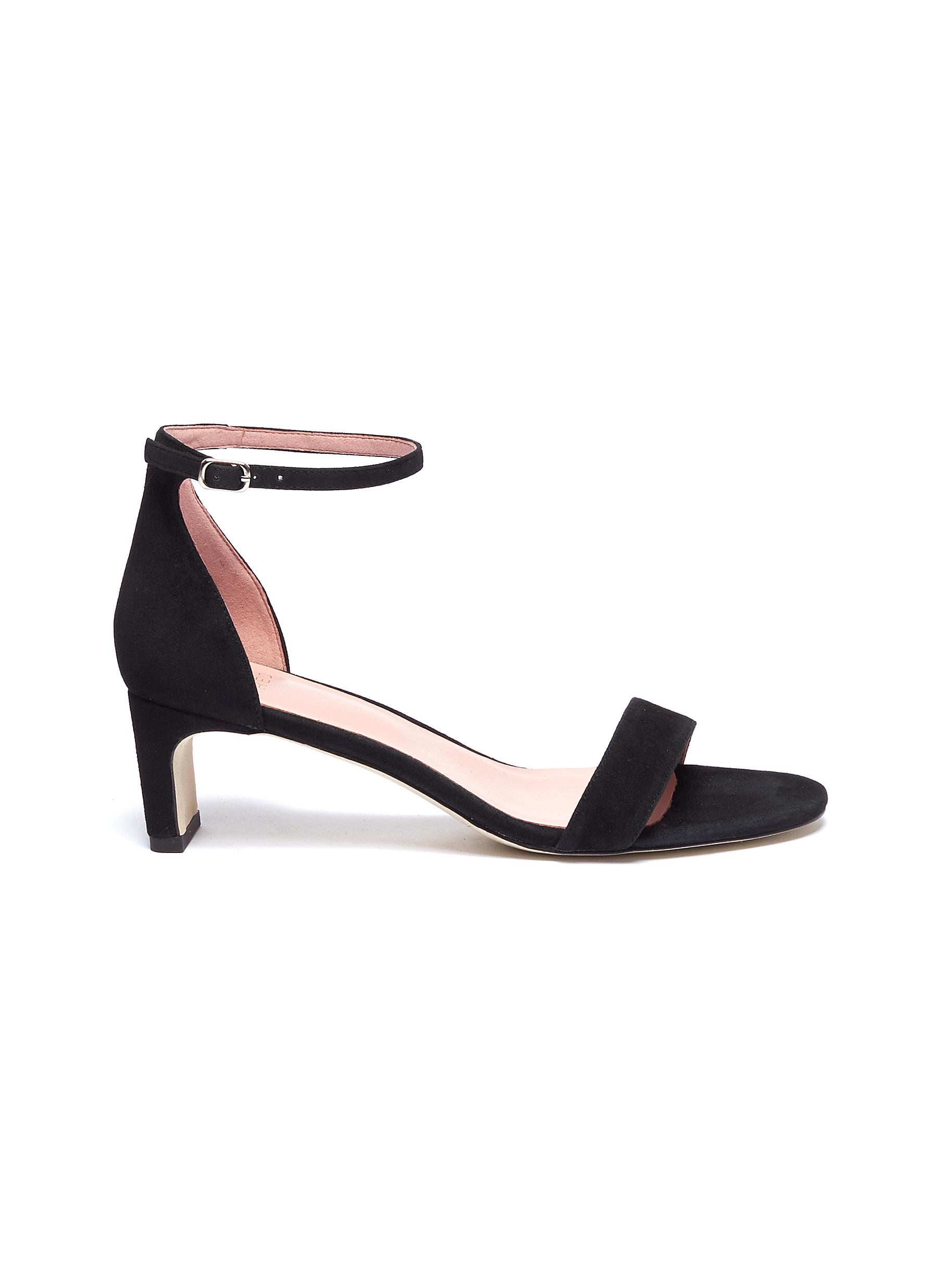 Aidan ankle strap suede sandals by Pedder Red