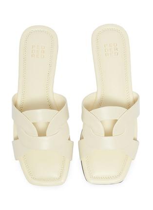 Detail View - Click To Enlarge - PEDDER RED - 'Cameron' loop leather slide sandals