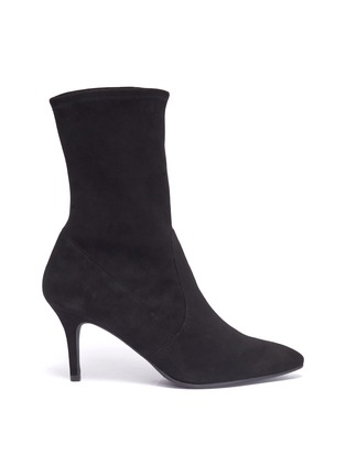 e1b56cfe94290 Stuart Weitzman  Cling  stretch suede ankle boots