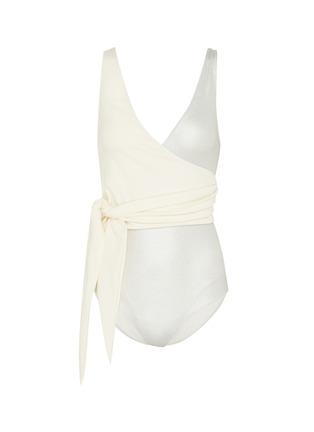 2f1414dce5c LISA MARIE FERNANDEZ  Dree Louise  colourblock crepe wrap one-piece swimsuit