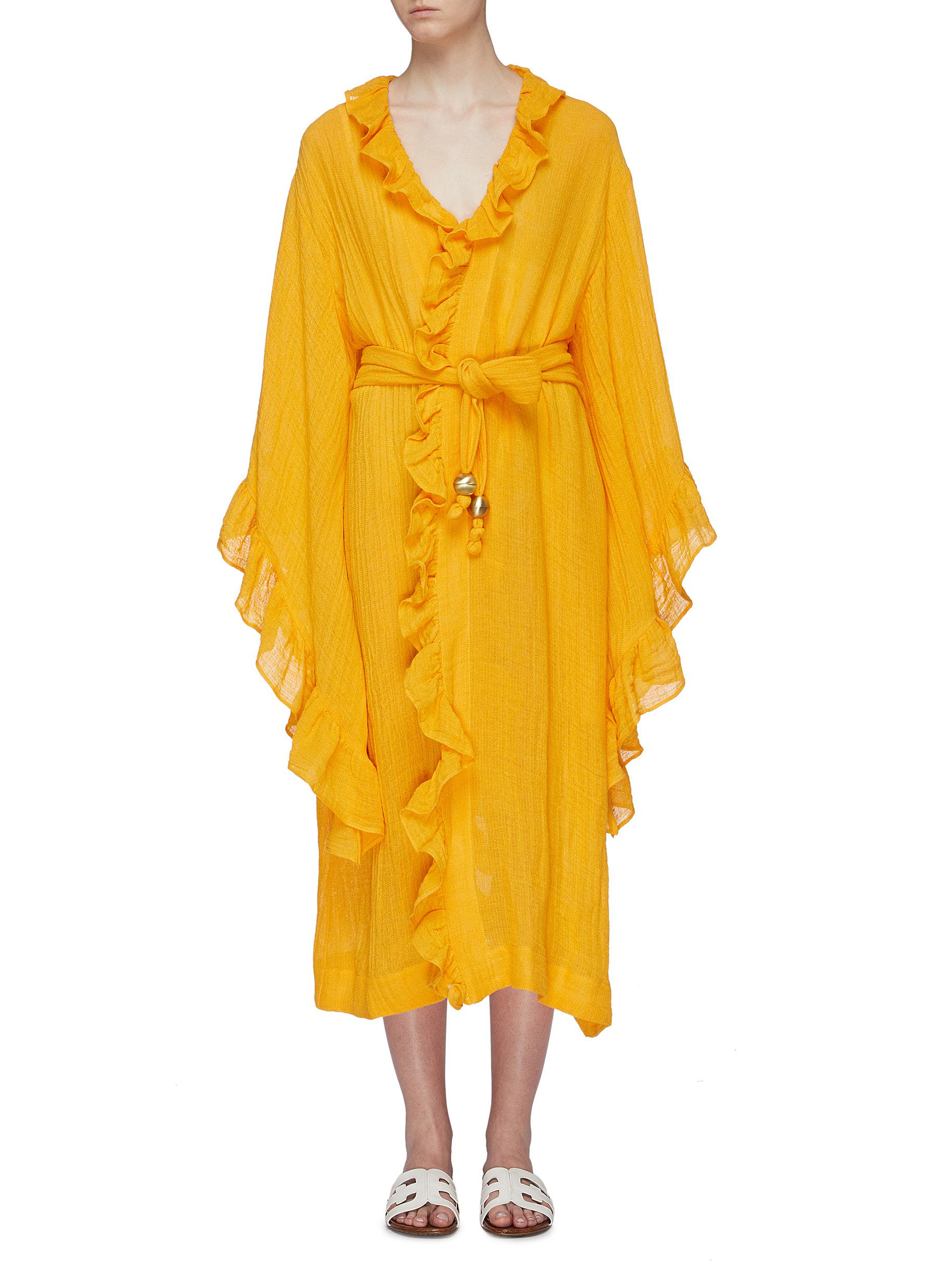 Buy Lisa Marie Fernandez Swimwear 'Anita' belted ruffle bell sleeve robe