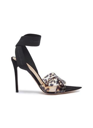 28b25061925 Gianvito Rossi Cross ankle strap leopard print PVC sandals