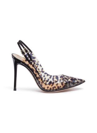 f13be47c39f Gianvito Rossi  Kylie  leopard print PVC slingback pumps