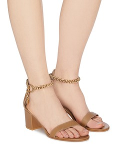 Gianvito Rossi Chain anklet leather sandals