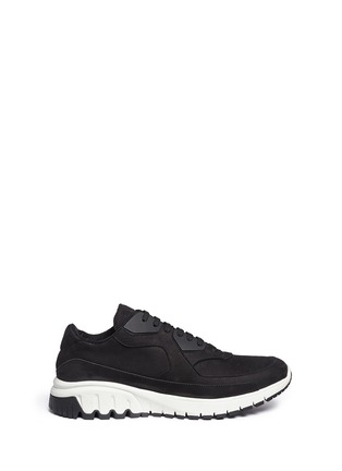 Main View - Click To Enlarge - Neil Barrett - 'Urban runner' nubuck leather sneakers