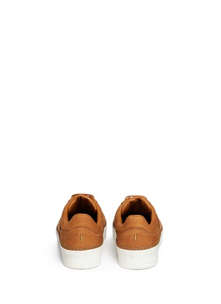Back View - Click To Enlarge - Neil Barrett - 'City Basketball' low top nubuck leather sneakers