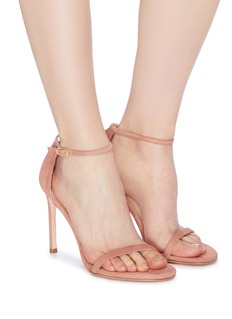 Stuart Weitzman 'Nudistsong' ankle strap suede sandals