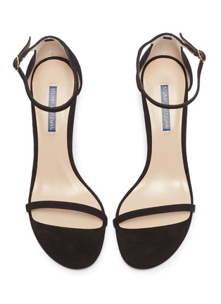 Detail View - Click To Enlarge - STUART WEITZMAN - 'Nudist' ankle strap suede sandals