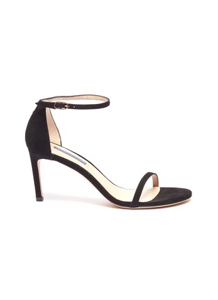 Main View - Click To Enlarge - STUART WEITZMAN - 'Nudist' ankle strap suede sandals